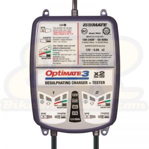OptiMate 3 Dual Bank Smart Battery Charger and Maintainer