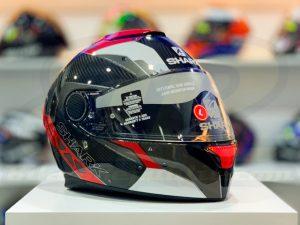 SHARK SPARTAN Carbon Bionic Red Full-Face Helmet