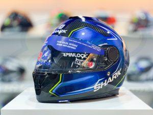 SHARK SPARTAN Carbon Guintoli Blue Full-Face Helmet
