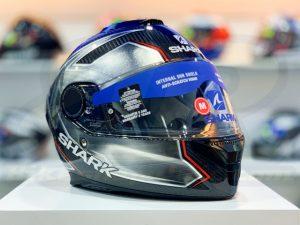 SHARK SPARTAN Carbon Guintoli Silver Full-Face Helmet